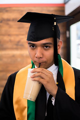 James Zamora (aoconstantino) Tags: boy people coffee portraits big san francisco downtown graduation undergrad