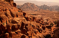 Path to the Monastery 48 (David OMalley) Tags: world city heritage rose rock stone site desert path petra siq carving unesco east jordan monastery arab middle carvings jordanian monumental jebel nabatean nabateans hewn maan almadhbah