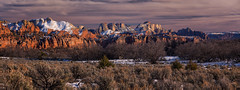 panorama - Zion National Park - 2-14-16  01 (Tucapel) Tags: light sunset panorama utah nationalpark dusk zion
