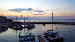Tramonto Giovinazzese (Alessandro Photo - ALPH) Tags: sunset sea cloud primavera europa barca italia tramonto nuvole mare nave porto sole puglia molo bari sud giovinazzo ital