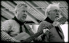 Harmonious (* RICHARD M (5 million views)) Tags: street liverpool portraits mono glasses blackwhite guitar candid stripes performance beards unescoworldheritagesite whiskers maritime portraiture singers specs characters nautical eyeglasses performers spectacles bearded guitarist albertdock merseyside streetportraits entertainers capitalofculture elderley streetportraiture seashanties europeancapitalofculture candidportraiture entertanment bewhiskered unescocityofmusic ssdanieladamson thedanny unescomaritimemercantilecity candididportraits harmonyharmonizing