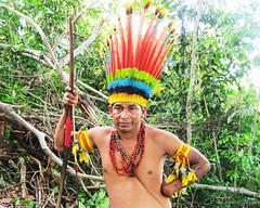 Aldeia Quatro Cachoeiras (fergprado) Tags: travel brazil man brasil culture homem cultura tribo indigenous oca ndio aoarlivre idigena