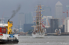 ARM Cuauhtemoc at Woolwich, London, Monday, June 13, 2016. (olliepix) Tags: london june ferry thames training river mexico ship arm navy sail monday 13 woolwich cuauhtemoc 2016