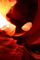 """""""The hole..."""" (Ilargia64) Tags: arizona orange nature rock landscape hole earth places page geology rockformation navajonation lowerantelopecanyon amayasanchez letsexplore"""
