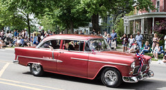 Red Bel Air (marylea) Tags: red classic belair car vintage community classiccar parade memorialday 2015 may25 memorialdayparade washtenawcounty