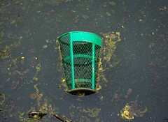Pond (Blake Bolinger) Tags: newjersey pond nj trashcan trenton cadwaladerpark
