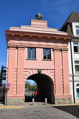 Rostock Germany.  Another city gate this time to the port area. (Anne and David.) Tags: germany rostock citygate