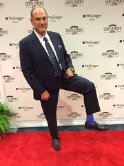 Jim Treliving - blue socks/black loafers (TBTAOTW2011) Tags: old man black socks businessman daddy shoe sock shoes dad dress tie business suit belly mature loafers loafer