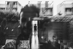 (Levan Kakabadze) Tags: blackandwhite selfportrait reflection monochrome selfie fujix100s