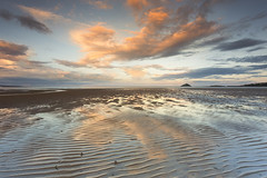 Ballinamona Strand (paulflynn) Tags: lighthouse reflections seascapes ballycotton cloudscapes