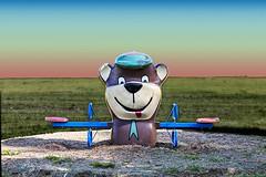 Yogi Bear (LarryHB) Tags: park red urban green playground yellow horizontal landscape photography explore missouri stegenevieve