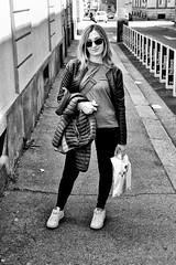 Morena, passeggiata per Torino (MarcYz184) Tags: blackandwhite bw 35mm torino nikon bn turin biancoenero morena d3100 nikontop