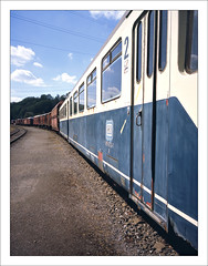 rairoad heritage - part of series - 6 (macfred64) Tags: railroad 120 film mediumformat 645 railway slide chrome transparency 6x45 fujiprovia100f eisenbahnmuseumbochumdahlhausen fujiga645wi fujinon45mmf4 railroadheritage