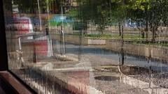Colour of rain (VALERIA MORRONE  ) Tags: max reflection rain strada piazza valeria asus riflessi pioggia autobus bari vetro giulio morrone cesare zenfone