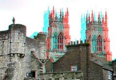 York 3D (wim hoppenbrouwers) Tags: york 3d cathedral anaglyph stereo walls minster redcyan