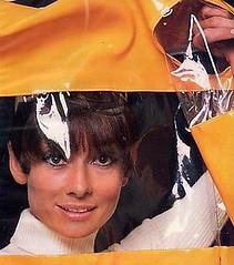 Audrey Hepburn and her vinyl coat (Plastic Fashion Queens) Tags: fashion coat vinyl plastic audrey jacket 1967 1960s hepburn pvc