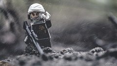 Whatever it takes to secure the bounty. (3rd-Rate Photography) Tags: macro canon starwars lego 100mm dirt minifig dust duststorm minifigure bountyhunter dengar 75145 earlware 3rdratephotography eclipsefighter