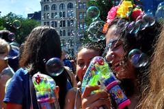 bubbles (greenelent) Tags: nyc summer people newyork streets fun bubbles photoaday 365 unionsquare