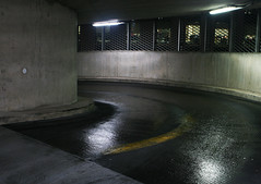 shoot7-16 (rubygraham) Tags: park street city car night landscape concrete time metallic modernism hidden curve brutalism dystopia