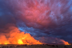 Escondida Bosque Wildfire (inlightful) Tags: sunset clouds fire smoke burn bosque drought damage wildfire escondida