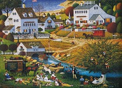HOUND OF THE BASKERVILLES (pattakins) Tags: americana jigsaw jigsawpuzzle charleswysocki 100piece