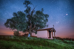 St. Cyprian Chapel (adenry) Tags: chapel landscape bulgaria beautiful plana tree grass stars night