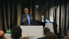 "Brian Cram, CEO of Dejero, thanking Angel One for the Pauli Award • <a style=""font-size:0.8em;"" href=""https://www.flickr.com/photos/124986169@N08/27757630542/"" target=""_blank"">View on Flickr</a>"