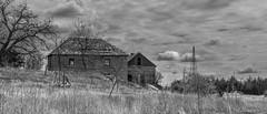 Flint Hills Farm Mono (joeqc) Tags: blackandwhite bw white black abandoned blancoynegro windmill monochrome canon mono hills forgotten flint 6d greytones ef24105f4l oncewashome