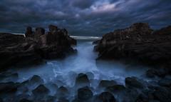 bomboo 2 edit (anguslovelucas) Tags: australia rocks seascape clouds sea long exprosure