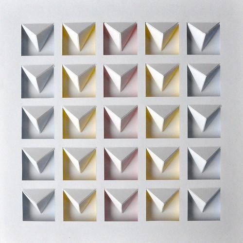 Herman Coppus papierreliëf 30x30cm