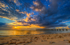 Lake Worth Beach Pier, Florida Sunrise HDR (elbonius76) Tags: ifttt 500px beach pier hdr florida ocean saltlife summer fall sunrise sun sunshine sunny clouds cloudy fishing morning lake worth