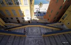 L'escalier (Jacques Isner) Tags: architecture pentax menton pentaxart pentaxk5 pentaxflickraward