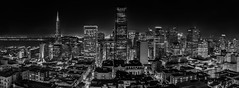 cbd light plan monochrome (pbo31) Tags: sanfrancisco california city summer urban blackandwhite panorama black june skyline night dark nikon view over large panoramic financialdistrict vista cbd transamerica stitched nobhill 2016 boury d810