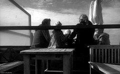 [Beach] Life (jaap spiering | photographer) Tags: street family sea people blackandwhite bw food woman man men beach monochrome clouds strand coast women couple noiretblanc zwartwit femme streetphotography wolken beachlife zee denhaag mens thehague vrouw lekker eten femmes vrouwen mensen beachclub kust strandtent 070 strandleven jaapspiering jaapspieringphotographer jaapspieringfotografie