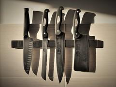 Ode to Cook Ting (D.J. De La Vega) Tags: nikon df 50mm f18 g knives knife sunrise shadow sun beam light