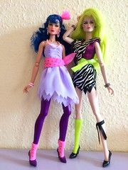 Stormer and pizzazz- jem and the holograms (trulytrulyoutrageous) Tags: fashion doll pizzazz themisfits jemandtheholograms stormer integritytoys jemboy