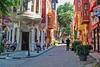 Kuzguncuk, Istanbul (yonca60) Tags: street people house turkey cafe istanbul woodenhouses colorfulhouses thebosphorus kuzguncuk
