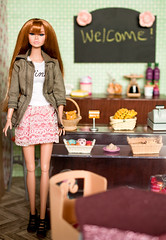 Welcome! (sadeyeddoll) Tags: miniature doll room bakery rement diorama 16scale integritytoys playscale poppyparker orcara bratterlovers