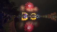 NDP 2016 NE Rehearsal - Fireworks at Singapore Sports Hub from Nicoll (gintks) Tags: seascape reflection landscapes singapore fireworks firework singapur kallangriver singaporetourismboard kallangwave sg51 gintks gintaygintks sg2016 nationaldayparade2016