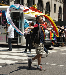 Calm and collected (EC Stainsby) Tags: street nyc newyorkcity summer usa ny newyork fun outdoor colorfull pride parade east lgbt avenue fifth thirtieth colourfull sunnny
