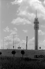 Wormer (matthijs rouw) Tags: wormer netherlands city film analogue analog analoog bw blackandwhite ilford fp4plus fp4 35mm canon nature grass landscape dutch holland rural tower kpn toren