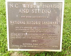 N.C. Wyeth House & Studio National Historic Landmark - 1997 (MR38.) Tags: nc wyeth house studio national historic landmark 1997