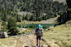 Arrive au lac infrieur des lacs de Bastan 2141m (alainlecroquant) Tags: montagne lac pyrnes nouvielle oule bastan infrieur suprieur milieu barrage artigusse parking vache cheveaux refuge refugedebastan