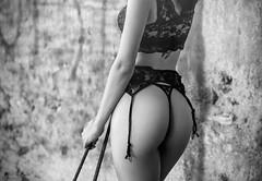 Dangerous curves (josejuanpantoja) Tags: girl chica woman mujer sensual sexy sensualidad culo lingerie lenceria tanga blakandwhite blancoynegro female femenine femenino ass bottom trasero vintage antiguo erotic erotico eroticism erotismo d700 nikon wall pared voluptuous bw ligas