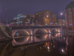 Beyond The Fog (Wizard CG) Tags: bristol bridge england long exposure night shots ngc micro four thirds 43 m43 olympus mzuiko digital ed world trekker reflection water river outdoor dusk epl7 hdr architecture arch skyline