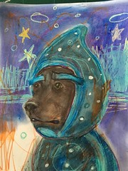Floyd the dog is Night Ninja! #pjmasks #nightninja #dogportrait #watercolor #fanart #halloweencostume #illustration #artist #originalart (little beth barnett) Tags: pjmasks nightninja dogportrait watercolor fanart halloweencostume illustration artist originalart