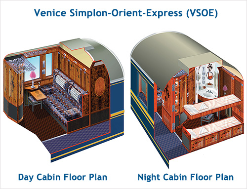 Venice Simplon-Orient-Express - Floor Plans