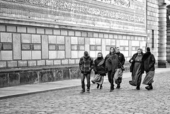 """ Dresden, Cold and Wind "" (pigianca) Tags: germany dresden blackwhite streetphoto altstadt urbanphoto sassonia fujixt1 56mmf12"