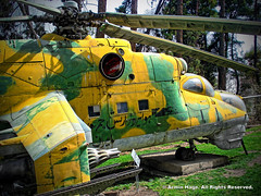 Captured Iraqi Mi-24 Helicopter On Display In Tehran, Iran (Armin Hage) Tags: saddam hind saadabad  militarymuseum attackhelicopter mi24 iraniraqwar sovietmade helicoptergunship 24 mi24helicopter saadabadpalacecomplex arminhage militarymuseumofiran