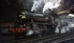 44680 Birkenhead Woodside station.  5 March 1967 (Brit 70013 fan) Tags: station br engine steam birkenhead 1967 british railways woodside steamengine britishrailways black5 44680 stephensonlocomotivesociety